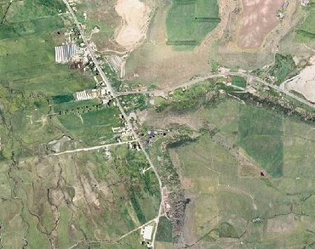 Aerial View of Peoa Settlement