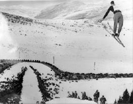 Ralph Bistila at Ecker Hill Ski Jumping
