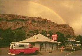 Rainbow Over Gas Station in Echo Canyon