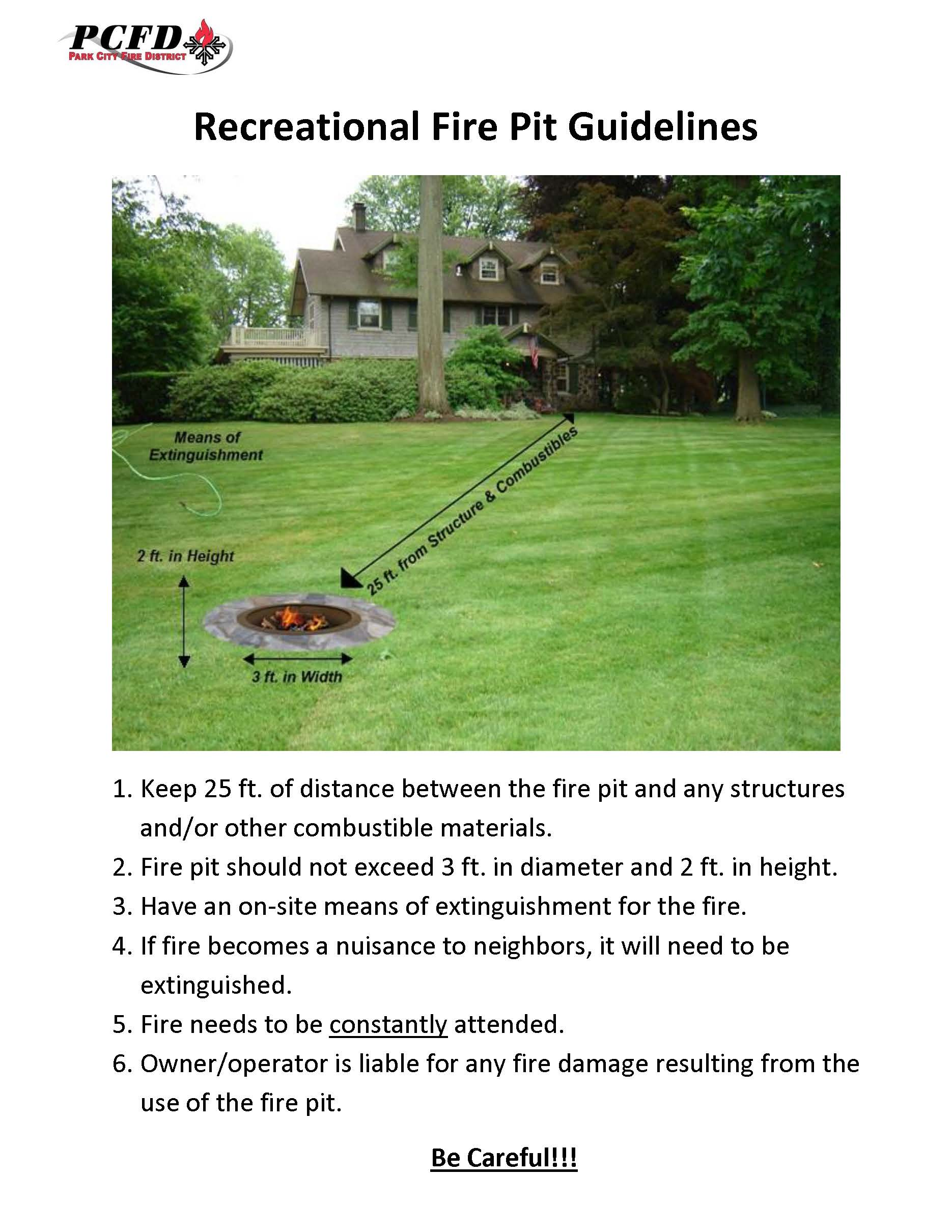 Recreational Fire Pit Guidelines
